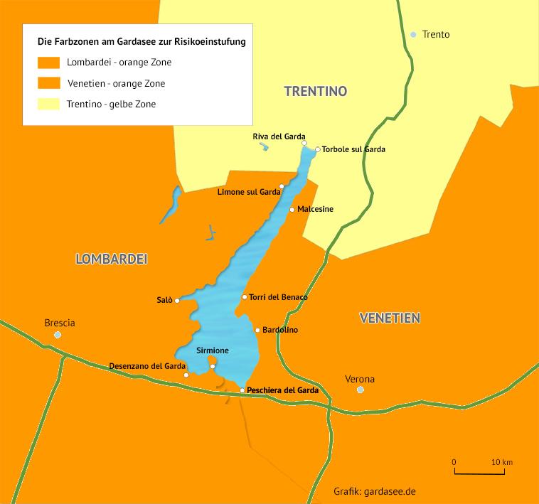 Gardasee Karte Regionen
