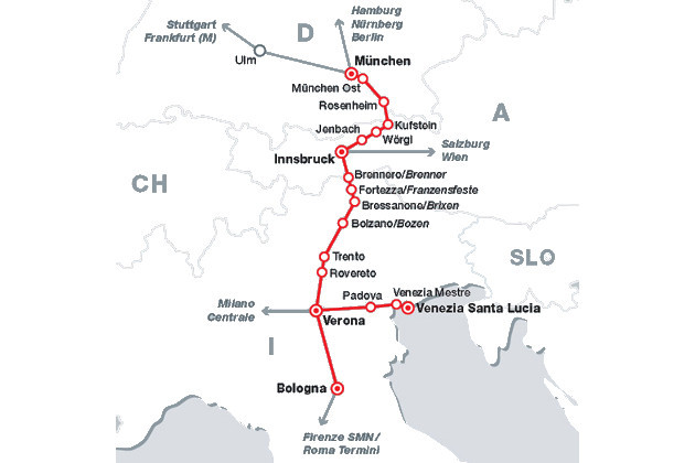 bahn destinationen in italien