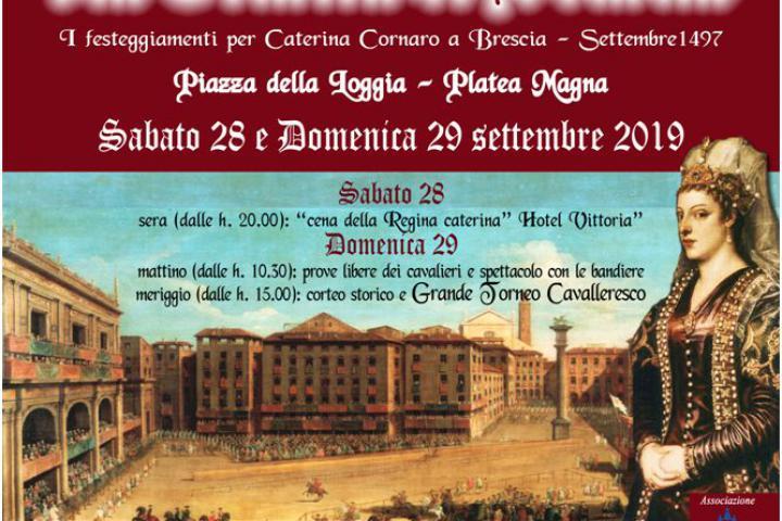 La Giostra di Brescia - Historische Darstellung zur Ankunft der zypriotischen Königin Caterina Cornaro in Brescia 1497